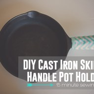 Cast Iron Skillet Pot Holder: Handle