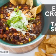 Easy Crock Pot Taco Soup Recipe | Fall Crock Pot Recipes