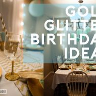 Gold Glitter Mint & Pink Birthday Ideas | Tween Birthday Party