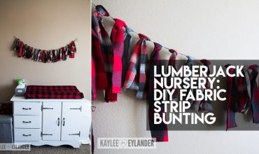 No Sew Fabric Strip Bunting | Lumberjack Nursery