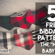 "5 Baby Bibdana Free Patterns | The ""new"" baby bib"