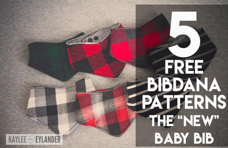 "5 Baby Bibdana Free Patterns   The ""new"" baby bib"