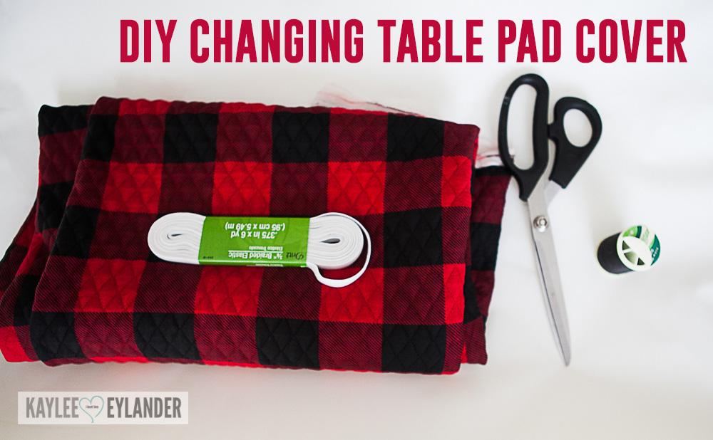 Lumberjack Nursery Changing Table Pad Cover DIY