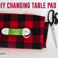 DIY Changing Table Pad Cover | Buffalo Plaid Lumberjack Nursery