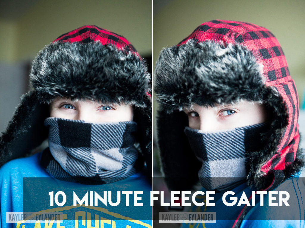 DIY Fleece Neck Warmer