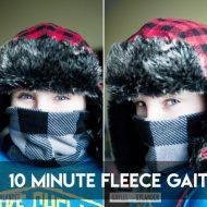 10 minute Kid's Fleece Gaiter   DIY Neck Warmer