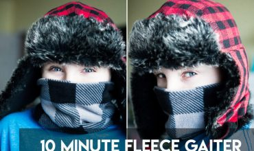 10 minute Kid's Fleece Gaiter | DIY Neck Warmer