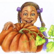 Childrens Illustration: Pumkin Seeds