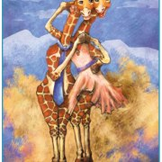 Children's Illustration: Dancing Giraffes - Digital Sketch