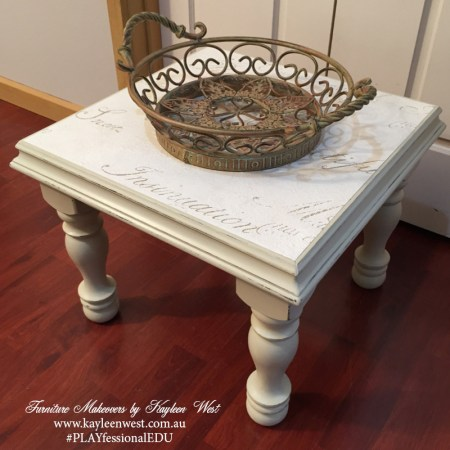 Gold and Country Grey Side Table