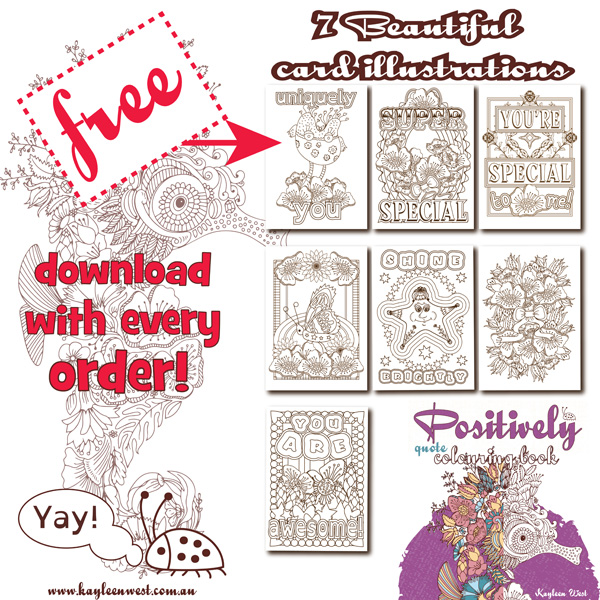 Positively Adult Colouring Book Free Pages Download