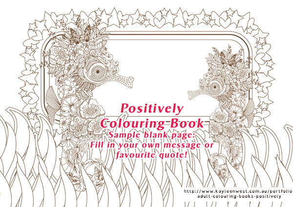 Positively adult colouring books - sample pages