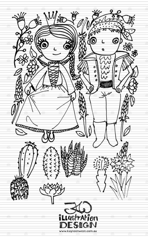 INKtober 2014. An inked sketch each day for the month of October. Costumes and cactus illustrations. #inktober