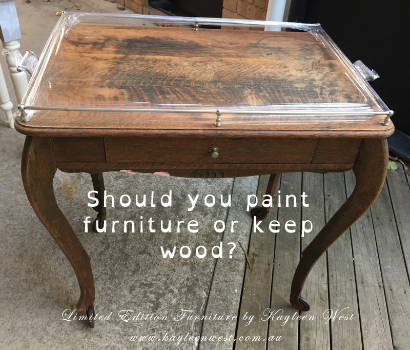 Should you paint furniture or keep wood?