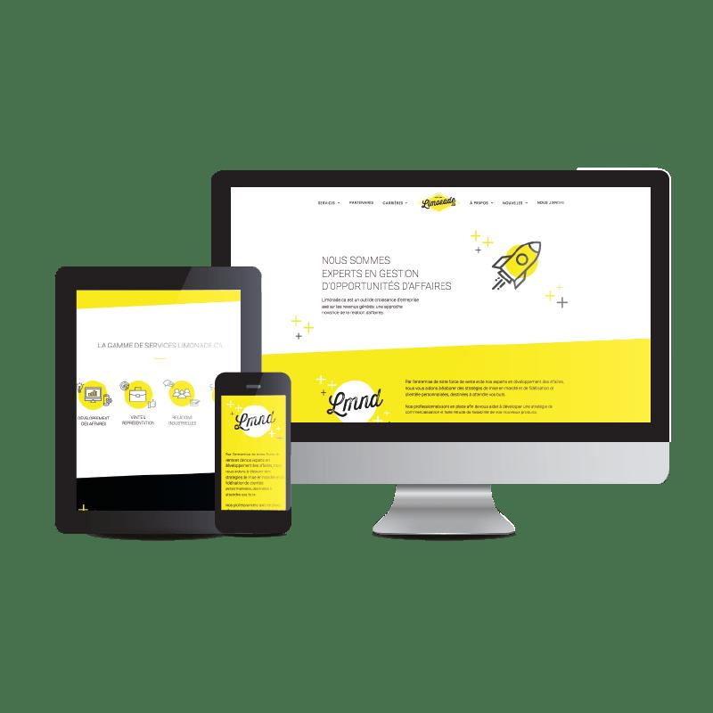 Web design and branding for Limonade.ca | Kaylynne Johnson - web & design | www.kaylynnejohnson.com