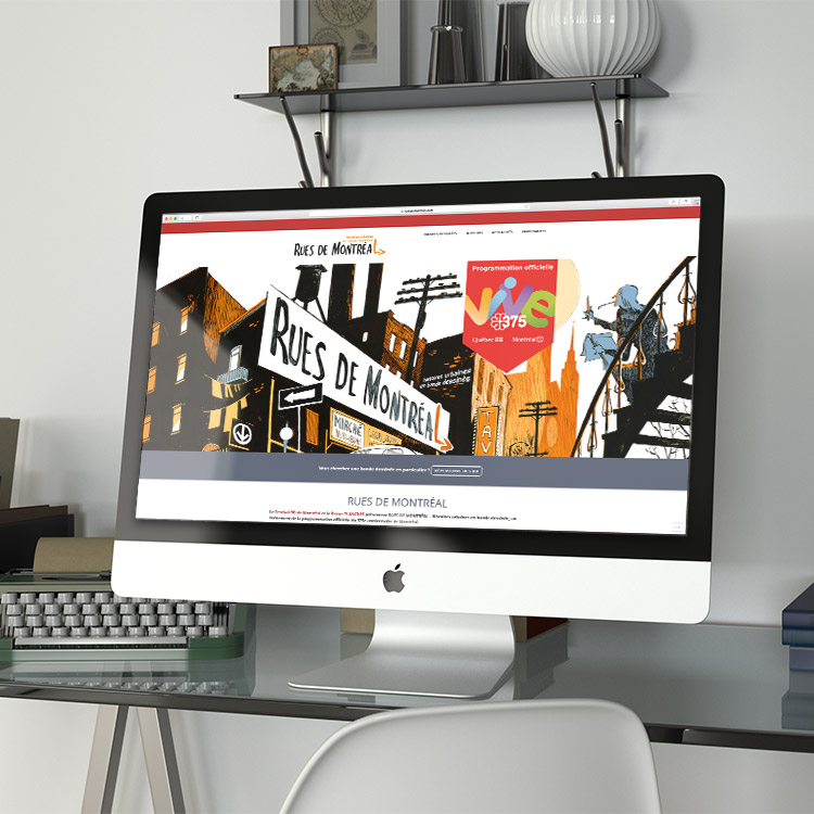 Site wordpress.com pour Rues de Montréal   Kaylynne Johnson - web & design   www.kaylynnejohnson.com