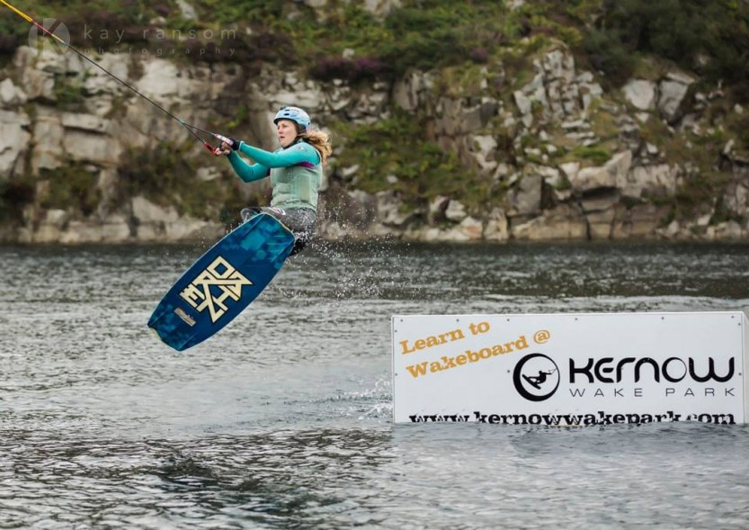 Competing in amateur wakeboarding in Cornwall