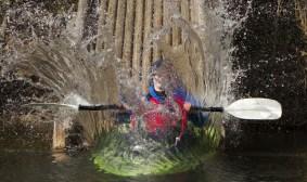 Kayaking splash