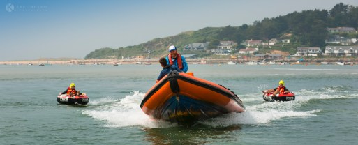 Charlie from Camel ski school towing inflatables