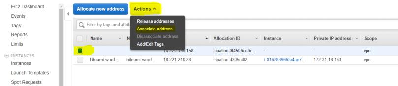 Assign an Elastic IP to EC2 instance