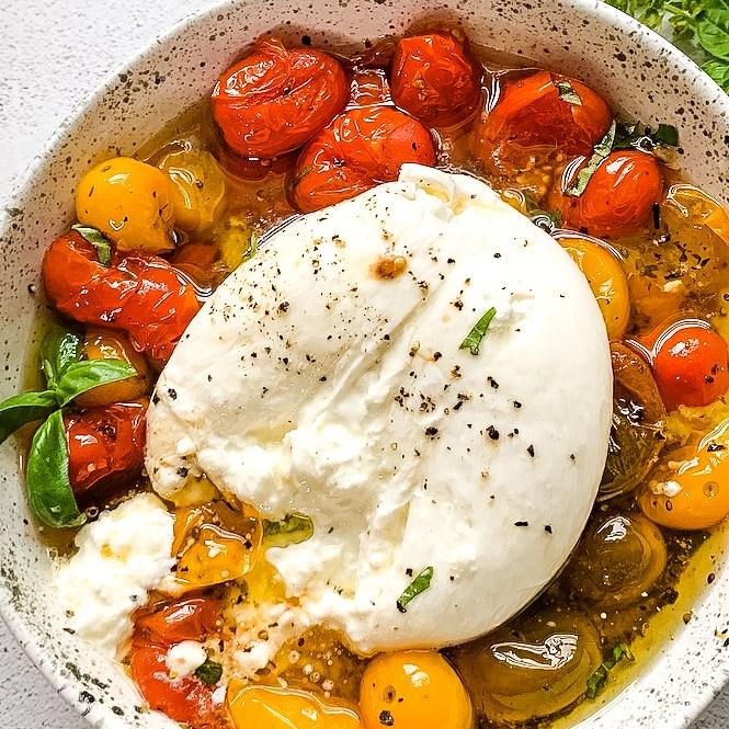 oven-roasted tomatoes & burrata