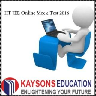 IIT JEE Online Mock Test 2016