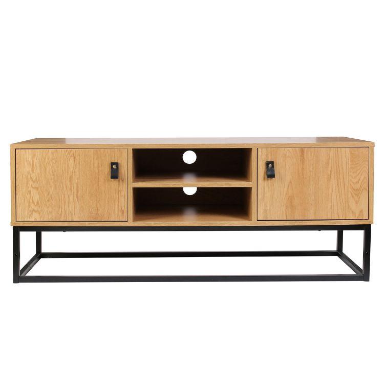 meuble tv bois et metal abbott