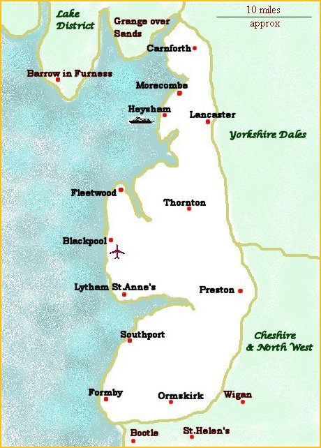 Accommodation In Fylde Coast Map Of Towns With Guest