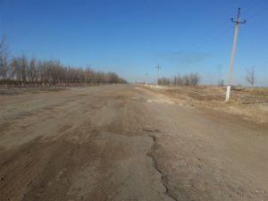 Highway between Ashgabat and Dashoguz