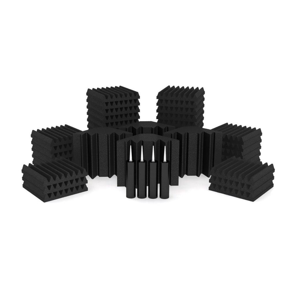 Universal Acoustics Solar System Mercury 2 Acoustic Treatment Kit, Purple and Charcoal