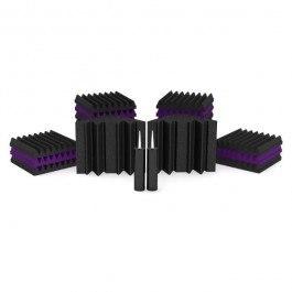 Universal Acoustics Solar System Mercury 1 Acoustic Treatment Kit, Purple and Charcoal