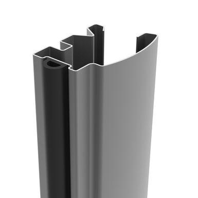 Facade De Placard Coulissante 2 Portes Decor Bois Fume Brut Miroir Argent Kazed