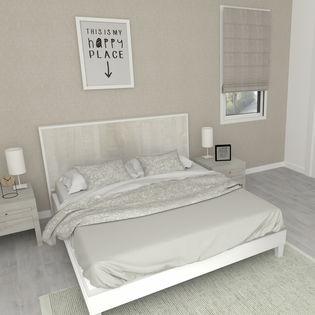 mocca tete de lit 16 tete de lit de 180 cm blanc mat et bois flotte creme