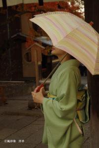 日傘 風彩染 手染め
