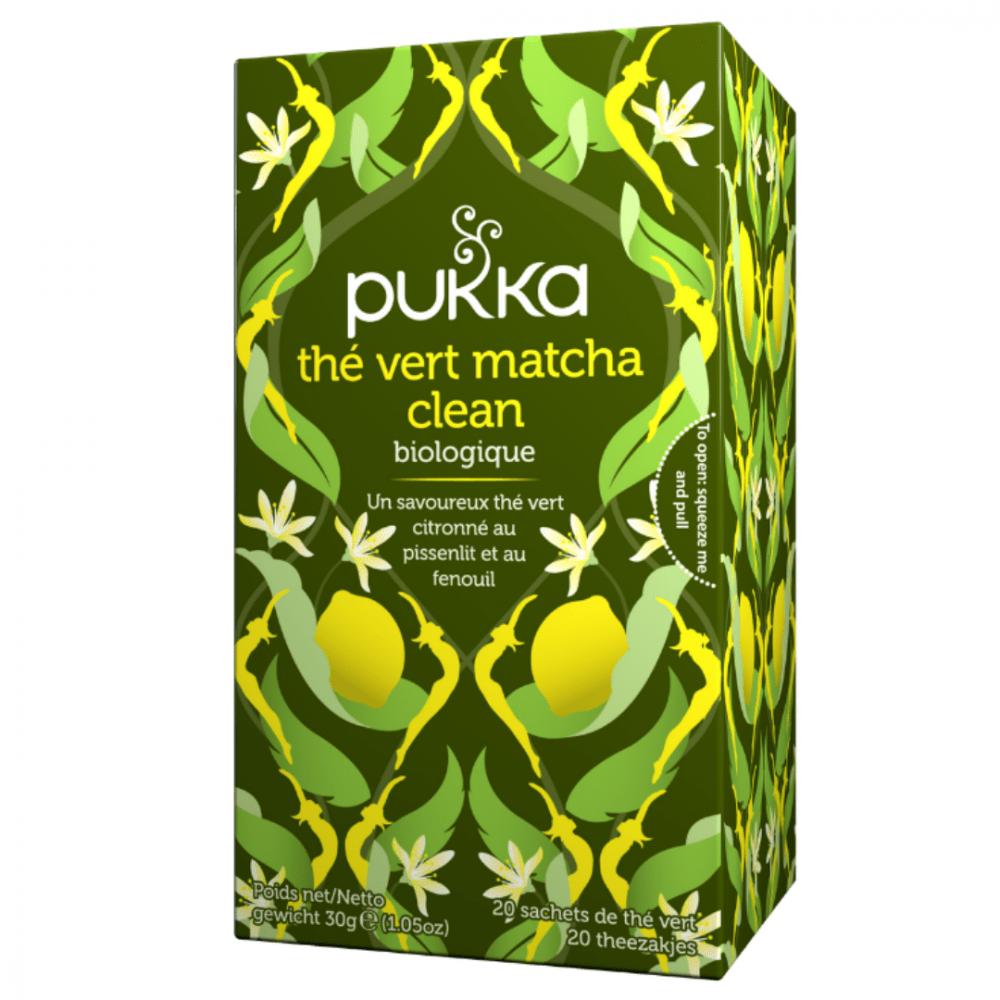 pukka the bio clean matcha green au matcha the vert et citron