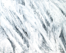 Abstract White Storm : abstract expressionism, abstract white, abstract weather theme, abstract natural weather scene, abstract white minmalism, abstract subtle brush stroke pattern, acrylic painting #4310, 2005 | Kazuya Akimoto Art Museum