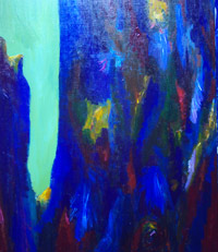 blue abstract landscape painting 2006