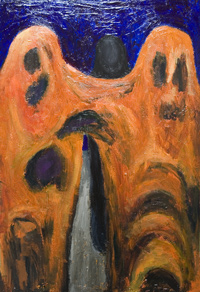 abstract, distorted human figure, surrealism painting