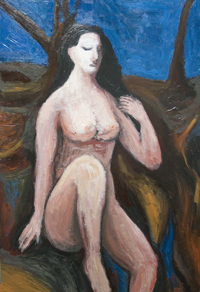 classical style, female, woman, human figure, figurative, biblical, religious,outdoor, acrylic painting #6373, 2007 | Kazuya Akimoto Art Museum