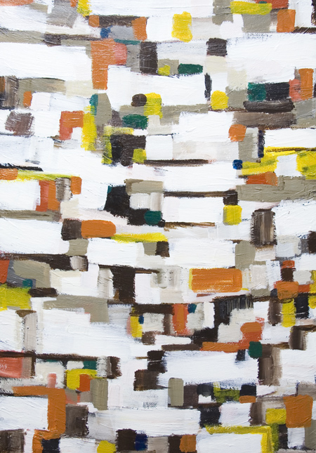 New, abstract cityscape, abstract geography, streetscape, abstract map pattern painting , abstract geometric pattern, abstract expressionism, acrylic painting #7277, 2008 | Kazuya Akimoto Art Museum