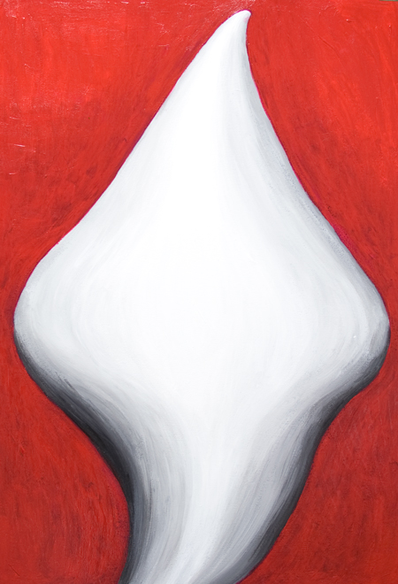 new, abstract female body symbolism painting, new Christianity, Virgin Mary abstract human figure, contemporary religious icon portrait painting, white color symbolism, massive body, massive solid, abstract fluidity virtual 3d woman symbolism, #8041, 2008 | Kazuya Akimoto Art Museum