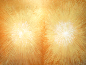 light symbolism, literature theme, abstract gold color, juxtaposition, metallic gold color, radiation, light symbolism acrylic painting #3085, 2004 | Kazuya Akimoto Art Museum