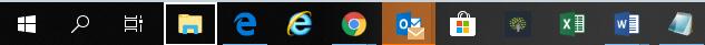Outlook Regra Janela novo item na barra iniciar