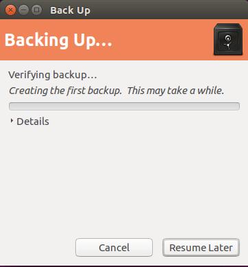 backup ubuntu backing up