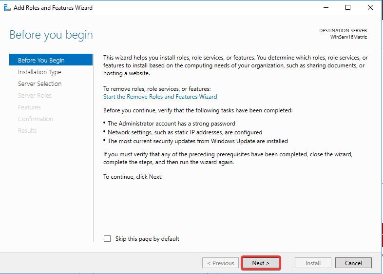 Windows Server IIS - Instalar IIS 10 - Wizard