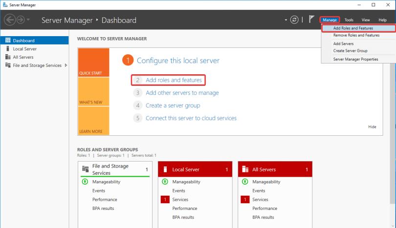 Windows Server IIS - Instalar IIS 10