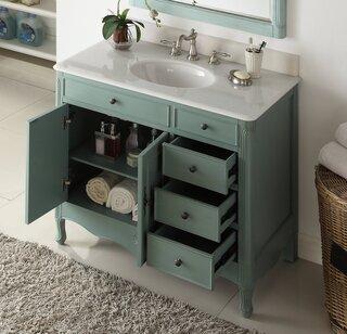 chans furniture hf 837y 38 inch benton collection distressed vintage blue daleville bathroom sink vanity