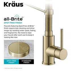 kraus kpf 1610 ksd 53sfacb bolden 18 inch single handle commercial kitchen faucet with soap dispenser in spot free antique champagne bronze