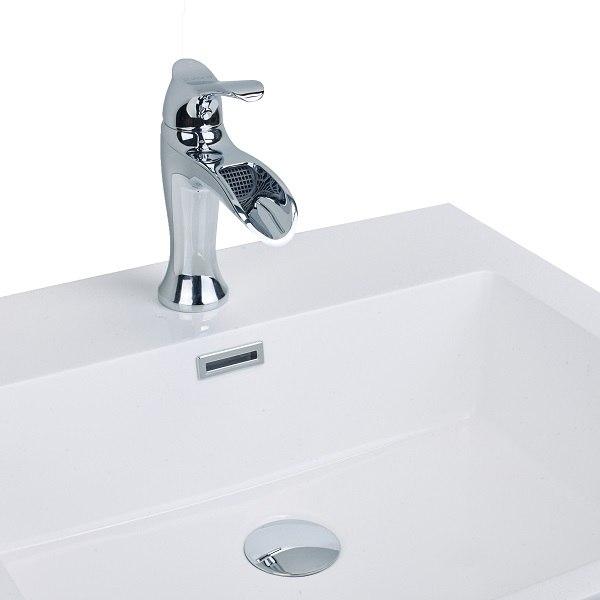 eviva evft164 swan luxury water fall single handle lever bathroom sink faucet