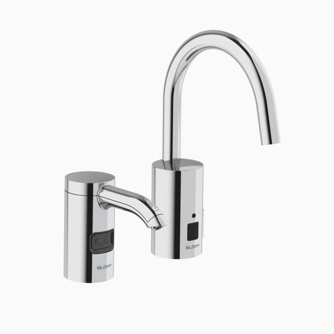 sloan 3346094 esd701a cp sensor activated electronic hand washing faucet with esd 700 series soap dispenser polished chrome